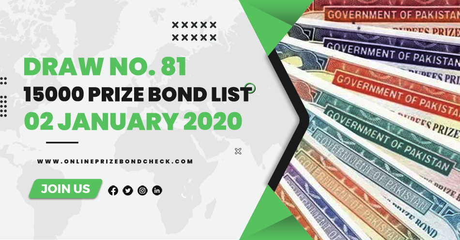 15000 Prize Bond List - 02 January 2020