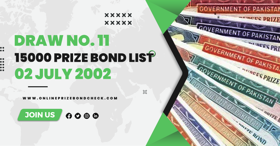 15000 Prize Bond List - 02 July 2002