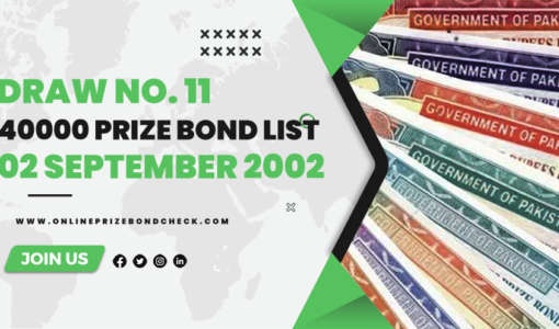 40000 Premium Prize Bond List-02 September 2002