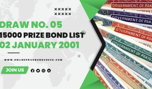 15000 Prize Bond List - 02 January 2001