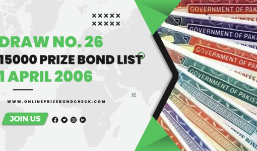 15000 Prize Bond List - 1 April 2006