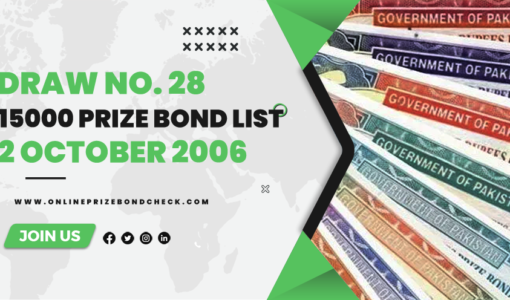 15000 Prize Bond List - 2 October 2006
