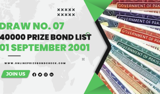 40000 Prize Bond List - 01 September 2001