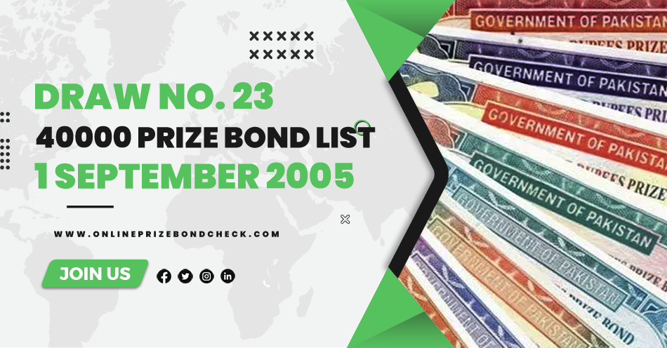 40000 Prize Bond List - 1 September 2005