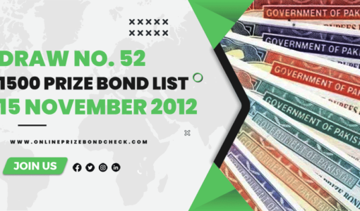 1500 Prize Bond List - 15 No1500 Prize Bond List - 15 November 2012vember 2012