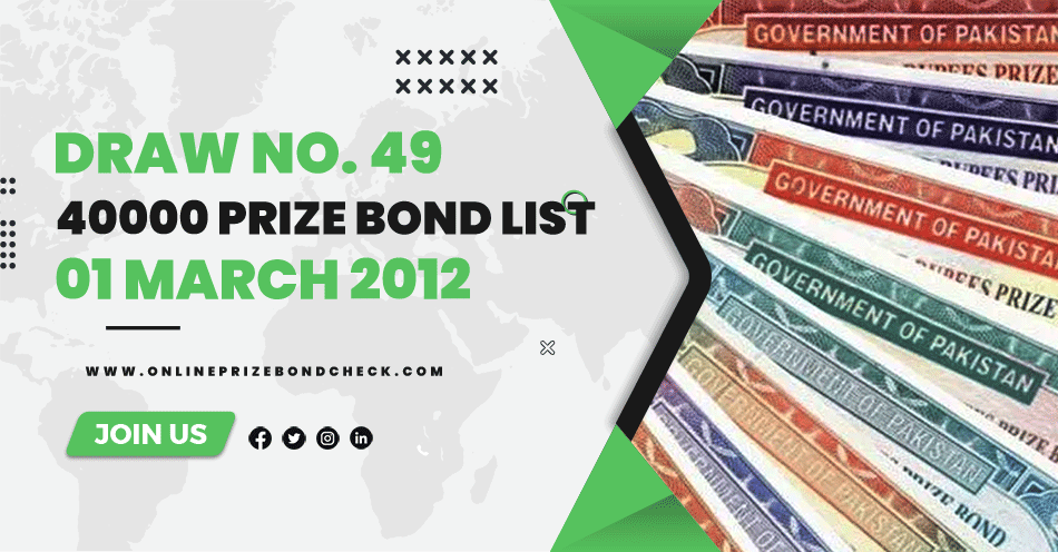 40000 Prize Bond List - 01 March 2012